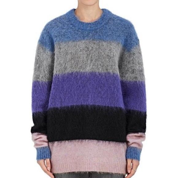b33f70cb9f0 Acne Studios Sweaters - Acne Studios Albah Striped Mohair-Blend Sweater